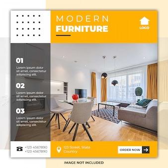Bannière de médias sociaux de meubles