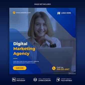 Bannière de médias sociaux pour le modèle d'agence de marketing