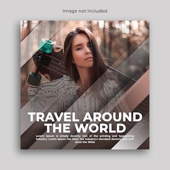 Bannière de médias sociaux de voyage