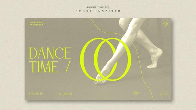 Bannière de modèle d'annonce d'académie de danse