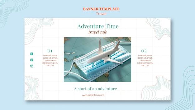 Bannière de modèle d'annonce d'agence de voyage