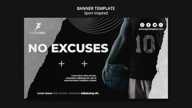Bannière de modèle d'annonce de formation de basket-ball