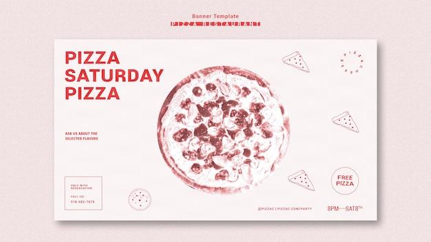 Bannière de modèle d'annonce de restaurant de pizza