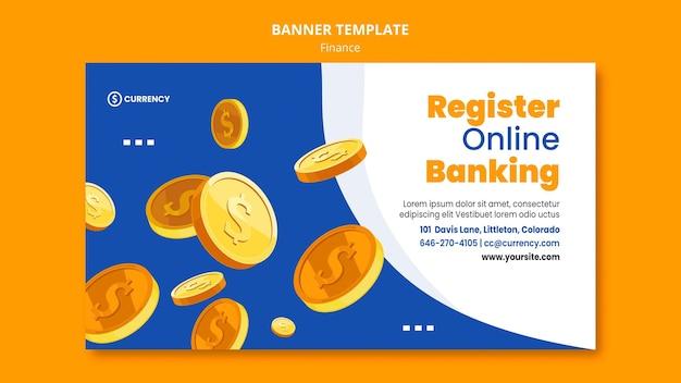 Bannière de modèle de banque en ligne