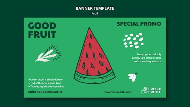 Bannière de modèle de festival de fruits