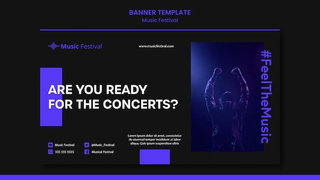 Bannière de modèle de festival de musique