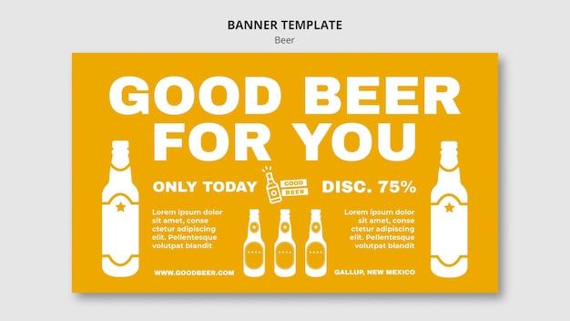 Bannière de modèle de fête de bière