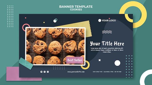Bannière de modèle de magasin de biscuits