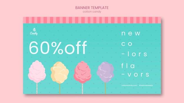 Bannière de modèle de magasin de bonbons