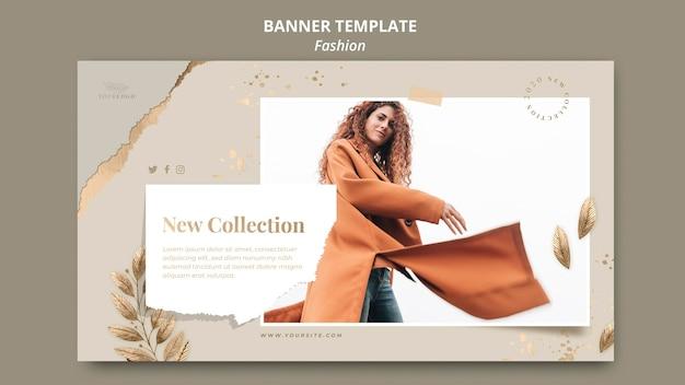 Bannière de modèle de magasin de mode