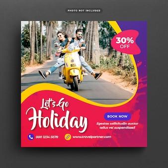 Bannière ou modèle de poste de vacances vacances