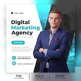 Bannière de modèle de publication business instagram