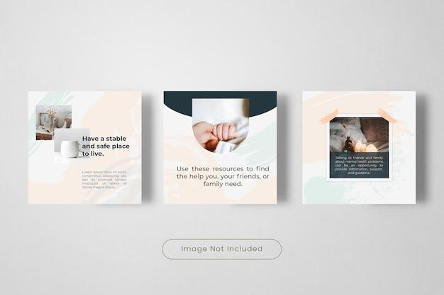 Bannière de modèle de publication instagram santé et bien-être