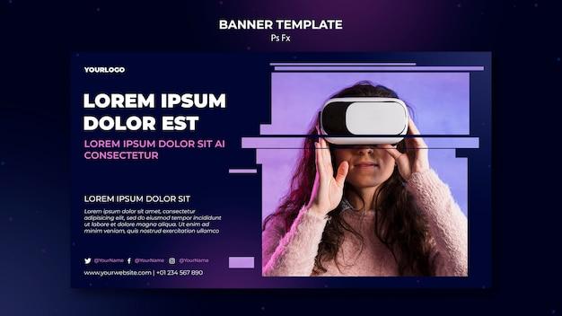 Bannière de modèle de réalité virtuelle