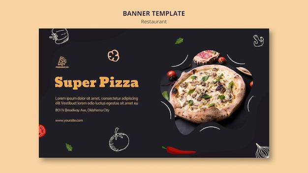 Bannière de modèle de restaurant italien