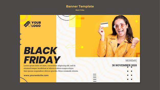 Bannière de modèle de vendredi noir