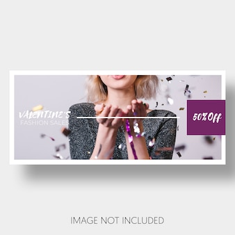 Bannière modèle vente saint valentin
