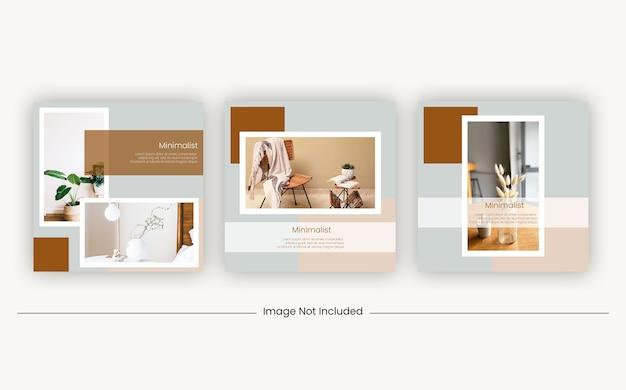 Bannière de modèles de meubles de publication de médias sociaux