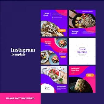 Bannière de post instagram alimentaire