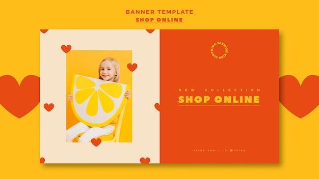 Bannière pour les achats en ligne