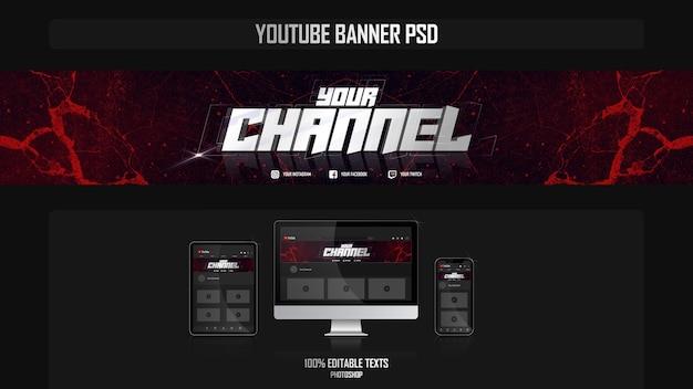 Bannière pour chaîne youtube avec concept de nuit