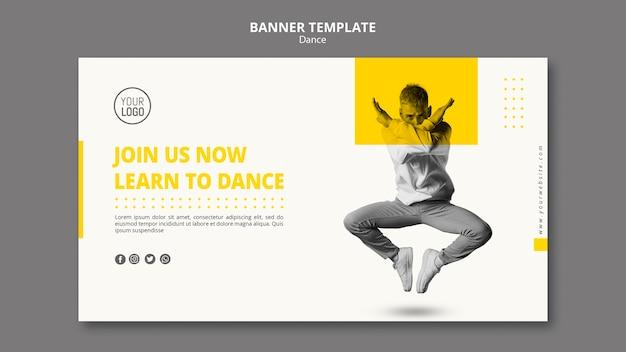 Bannière pour les cours de danse