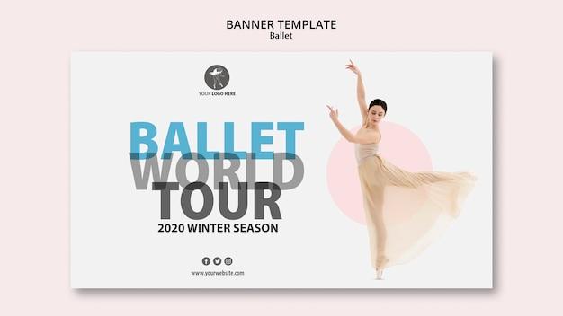 Bannière pour une représentation de ballet