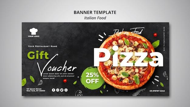 Bannière pour un restaurant de cuisine italienne traditionnelle