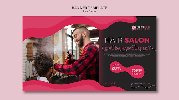 Bannière pour salon de coiffure