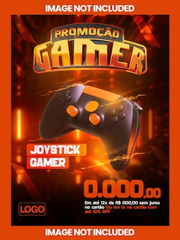 Bannière de promotion gamer pour la vente de produits pour joueurs à la vente et au détail et commerce