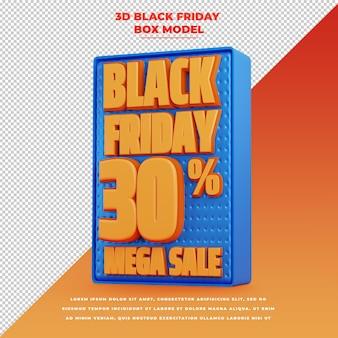 Bannière de promotion de titre de remise du vendredi noir 3d