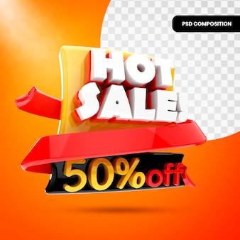 Bannière de promotion de vente chaude 3d