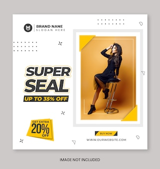Bannière de promotion de vente de mode