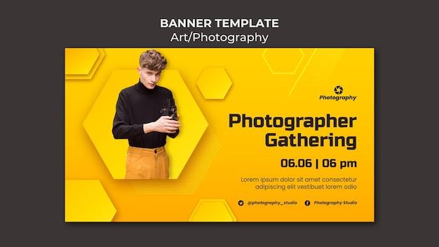 Bannière de rassemblement de photographe