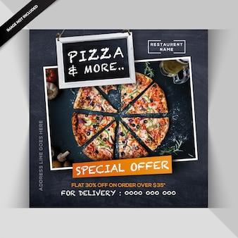 Bannière de restaurant italien ou poste pour instagram