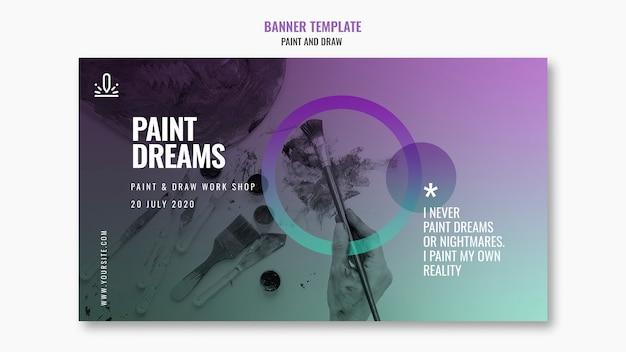 Bannière de rêves de peinture avec photo