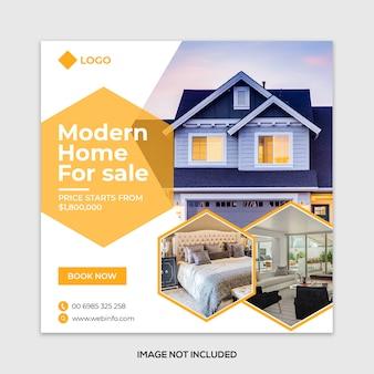 Bannière sociale de vente immobilière