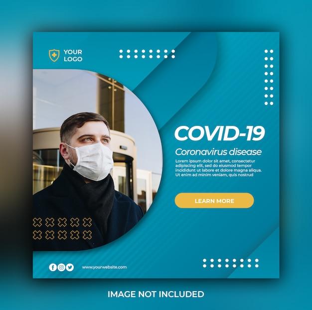 Bannière de soins de santé avec thème de prévention des virus