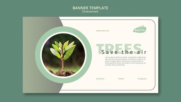 Bannière avec thème environnement