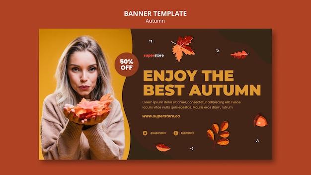 Bannière de vente automne été