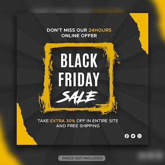 Bannière de vente black friday ou modèle de conception de médias sociaux