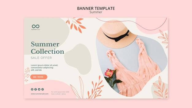 Bannière de vente de collection d'été