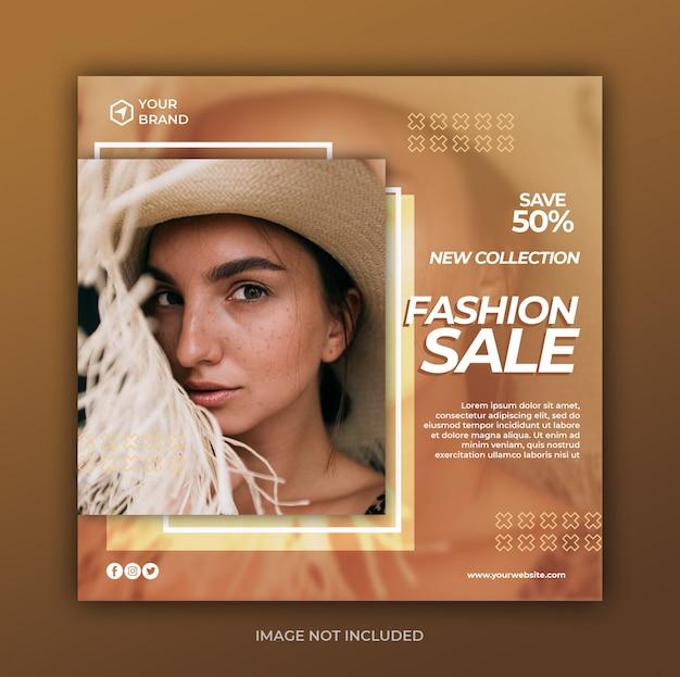 Bannière de vente de mode moderne simple ou flyer carré pour le modèle de publication sur les médias sociaux