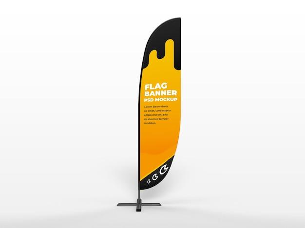 Bannière Verticale De Drapeau Réaliste Et Maquette De Campagne De Marque PSD Premium