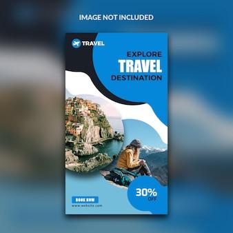 Bannière de voyage pour histoires instagram