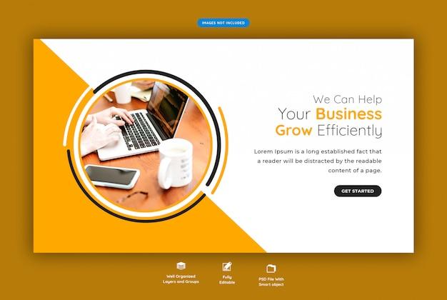 Bannière web horizontale d'entreprise