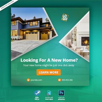 Bannière web sur l'immobilier