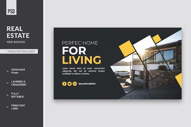 Bannière web de l'immobilier