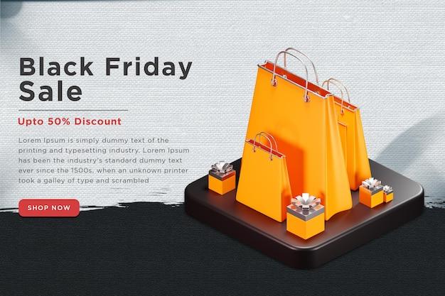 Bannière web de magasinage du vendredi noir