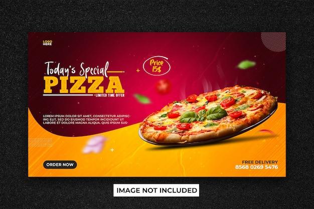Bannière web promotionnelle de vente d'aliments
